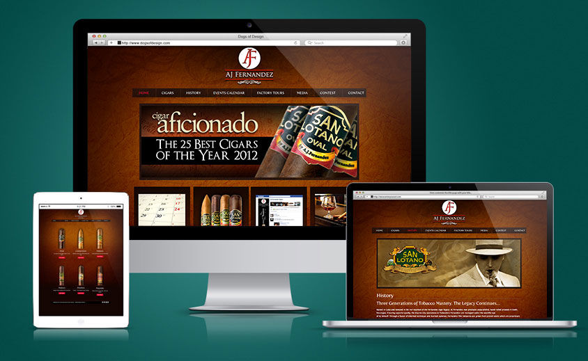 Website Design and Development: AJ Fernandez Cigars
