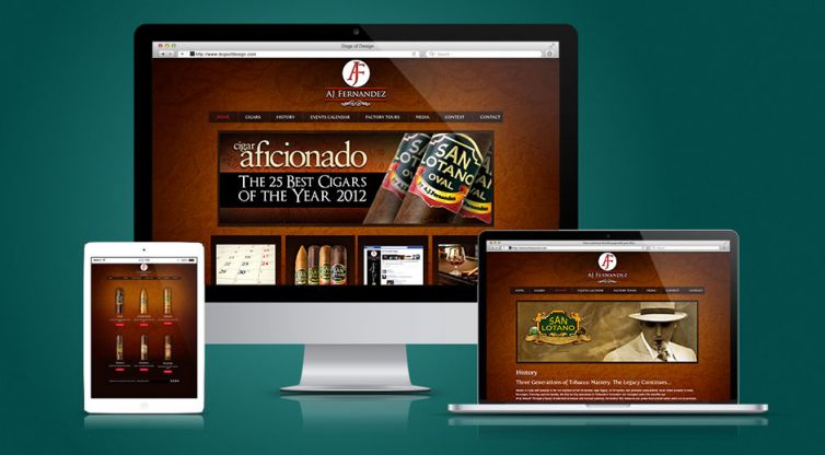 Website Design and Development: AJ Fernandez Cigars