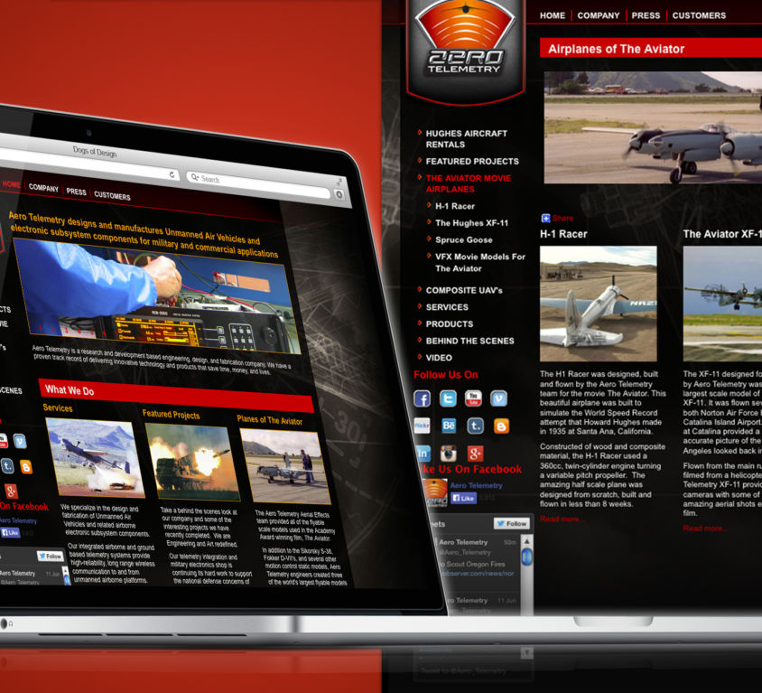 WEBSITE DESIGN AND DEVELOPMENT: AEROTELEMETRY
