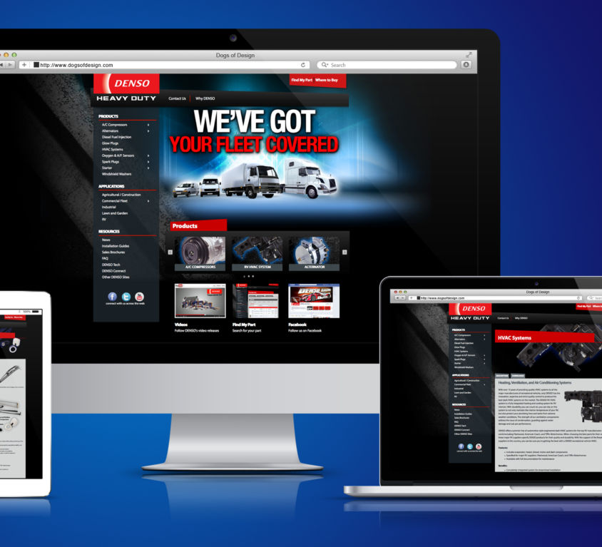WEBSITE DESIGN AND DEVELOPMENT: DENSO HEAVY DUTY