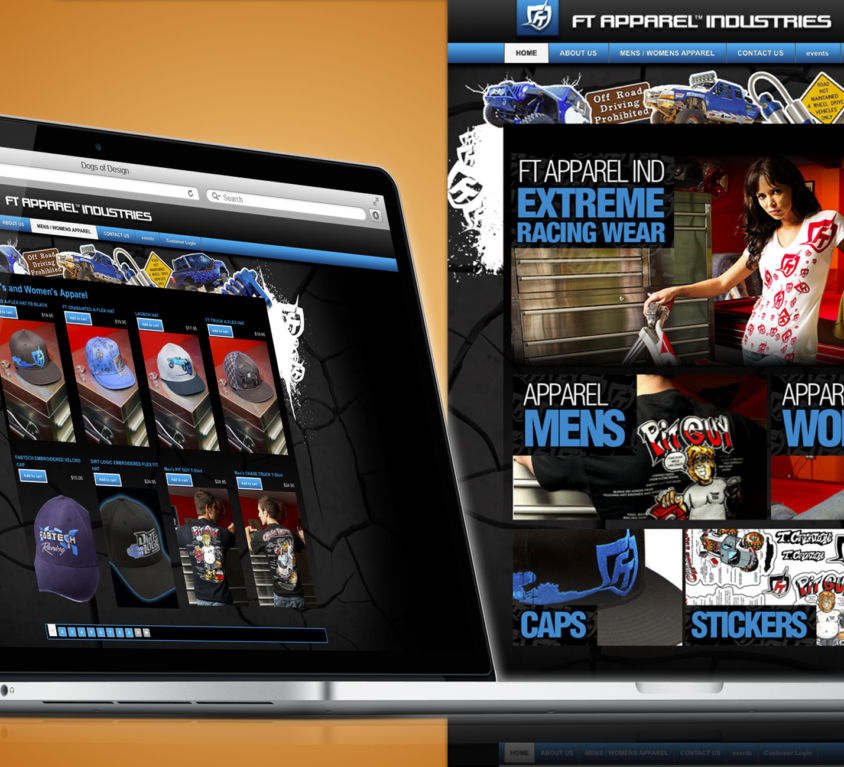 WEBSITE DESIGN AND DEVELOPMENT: FT APPAREL