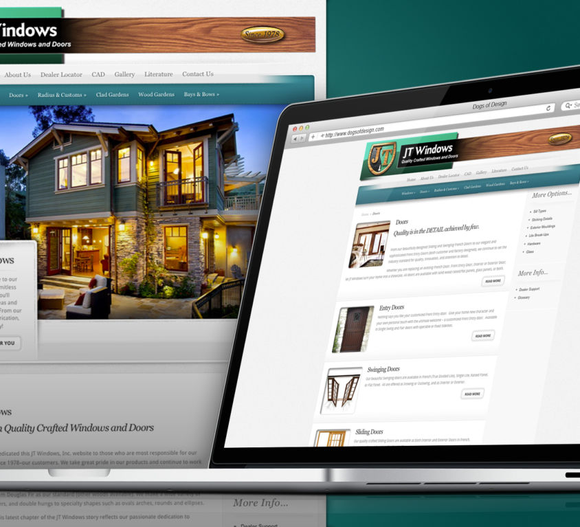 WEBSITE DESIGN AND DEVELOPMENT: JT WINDOWS