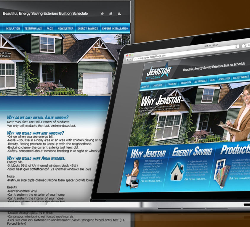 WEBSITE DESIGN AND DEVELOPMENT: JEMSTAR BUILDERS