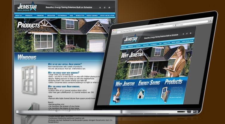 WEBSITE DESIGN AND DEVELOPMENT: JEMSTAR BUILDERS