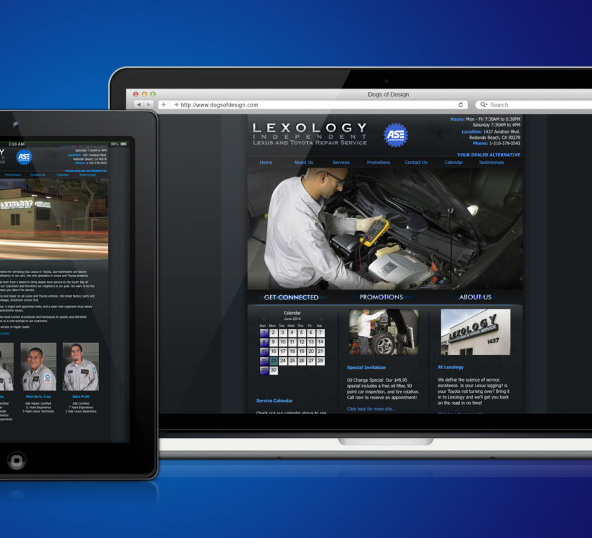 WEBSITE DESIGN AND DEVELOPMENT: LEXOLOGY AUTO SHOP