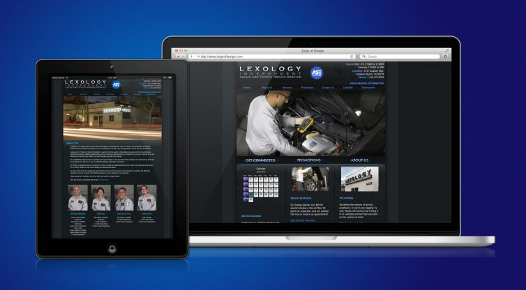 WEBSITE DESIGN AND DEVELOPMENT: LEXOLOGY AUTO SHOP