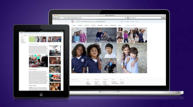 Website Development: Lycée International de Los Angeles