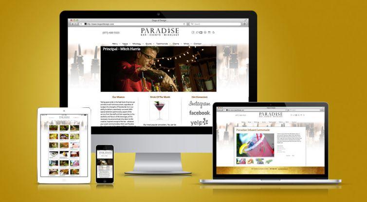 WEBSITE DESIGN AND DEVELOPMENT: PARADISE BAR AND BEVERAGE SERVICE