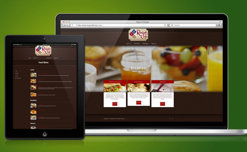 Website Design and Development: Rebekah's Cafe