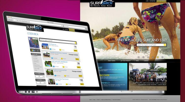 Website Design and Development: SurfSrch Travel