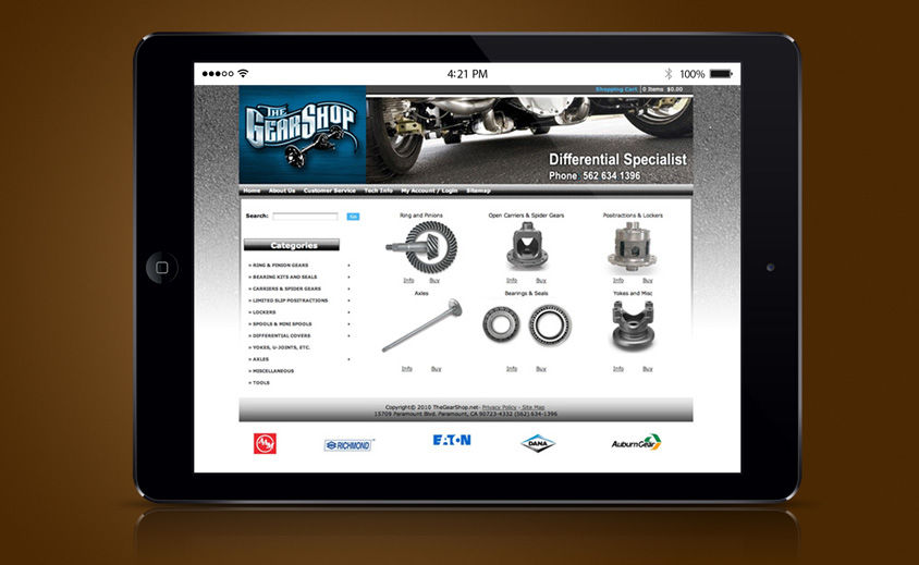 Website Design and Development: The Gear Shop