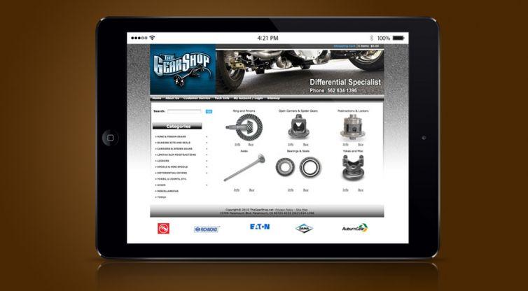 Website Design and Development: The Gear Shop