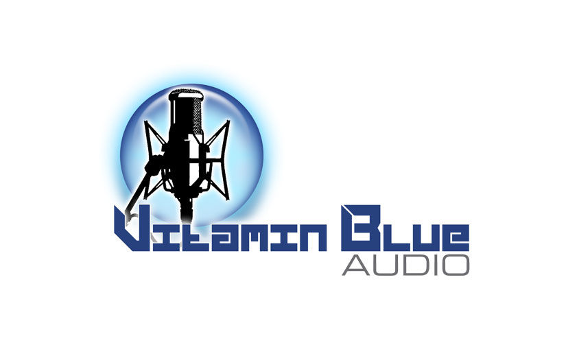 Logo Design: Vitamin Blue Audio