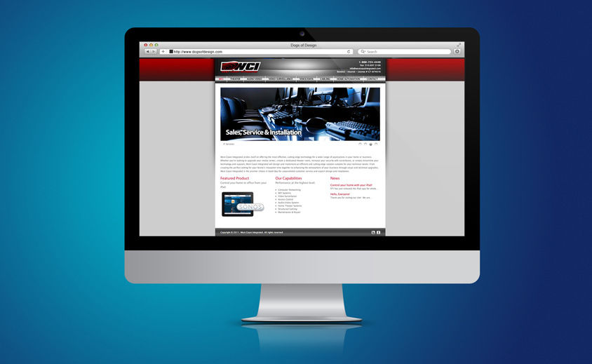 WEBSITE DESIGN AND DEVELOPMENT: WEST COAST INTEGRATED