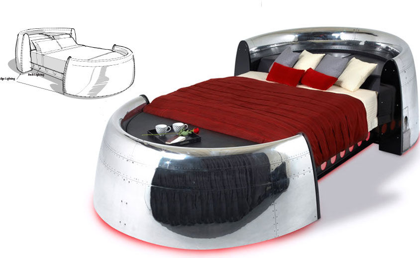 Industrial Design: MotoArt – Jumbo 747 Sleeper Bed