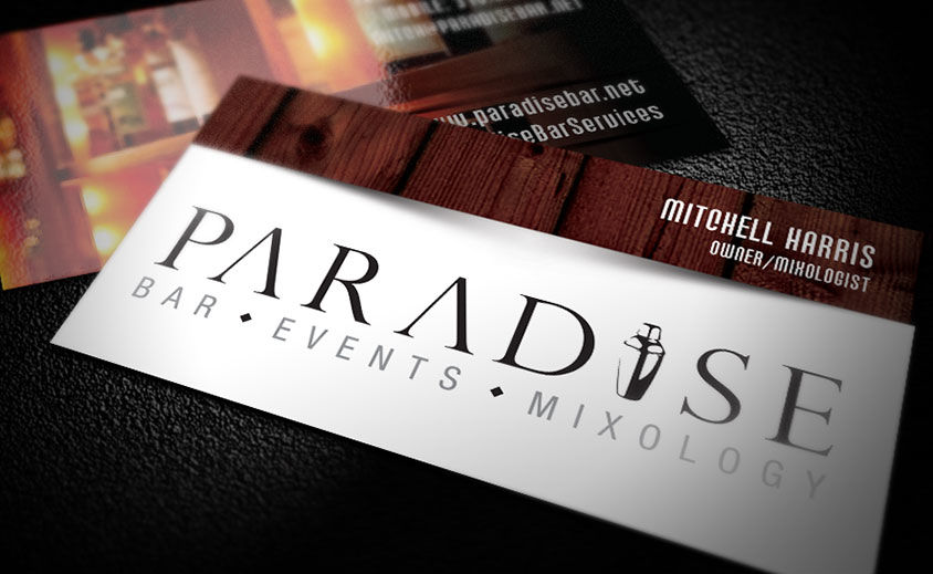 Business Card Design: Paradise Bar