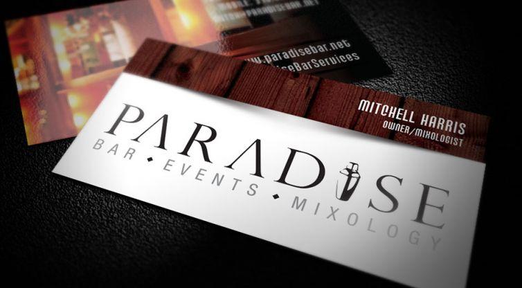Business Card Design: Paradise Bar