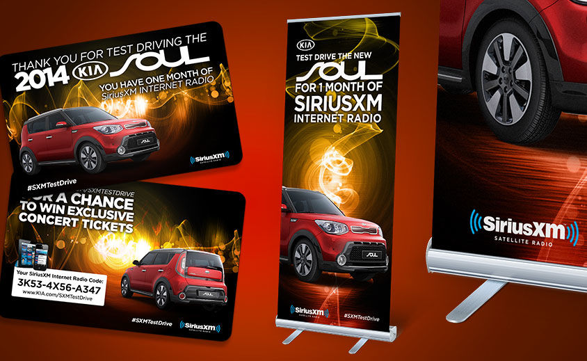 Point of Purchase Marketing Design: SiriusXM and Kia Soul