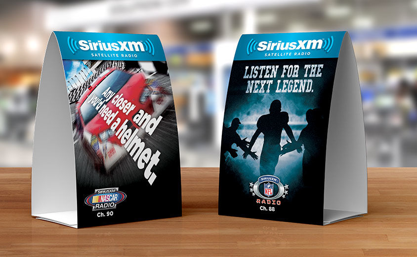 Table Tent Design: SiriusXM