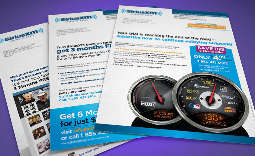 Direct Mail Design: SiriusXM Radio
