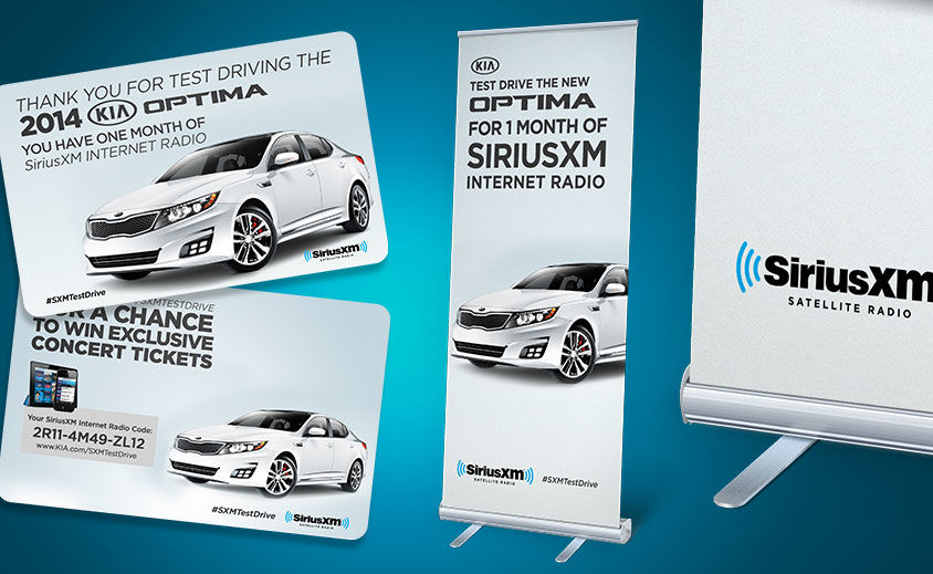 Point of Purchase Marketing Design: SiriusXM and Kia Optima