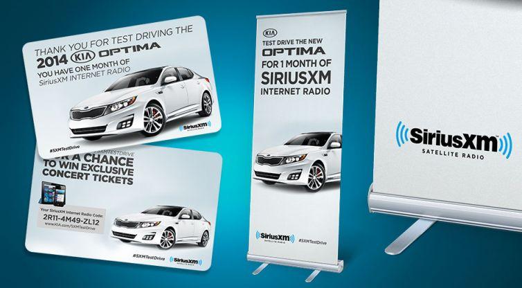 Point of Purchase Marketing Design: SiriusXM and Kia Optima