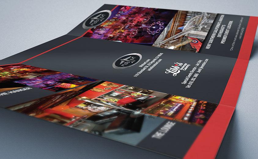 Tri-Fold Brochure Design: MotoArt Studio Venue
