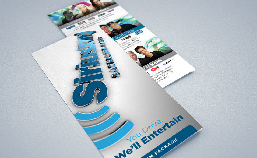 Tri-Fold Brochure Design: SiriusXM Channel Guide