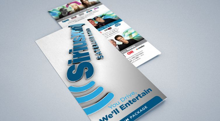 Tri-Fold Brochure Design: SiriusXM Channel Guide
