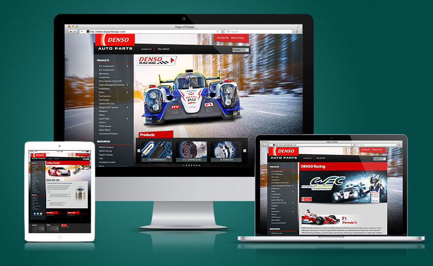 Website Design and Development: DENSO Auto Parts