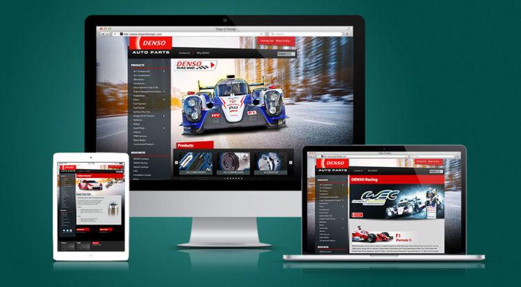 Website Design and Development: DENSO Auto Parts