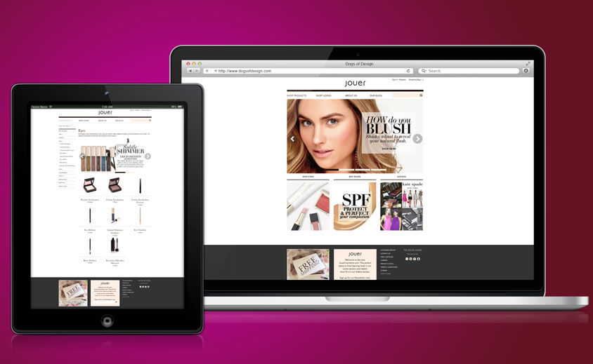 Website Development: Jouer Cosmetics