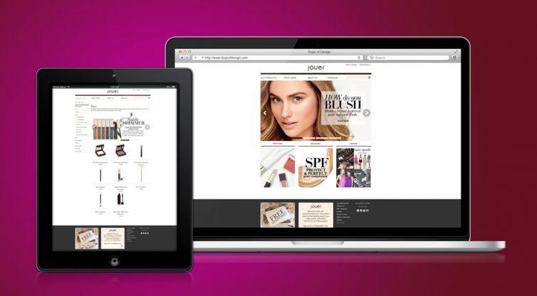 Website Development: Jouer Cosmetics