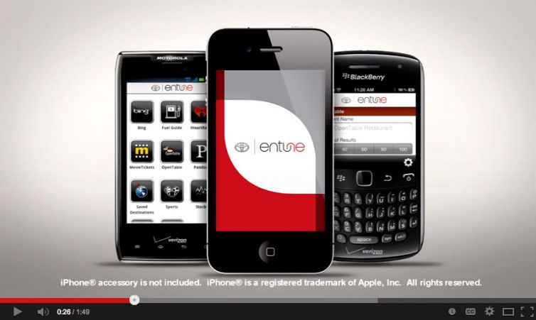 """Product Video: Toyota – """"Entune"""""""