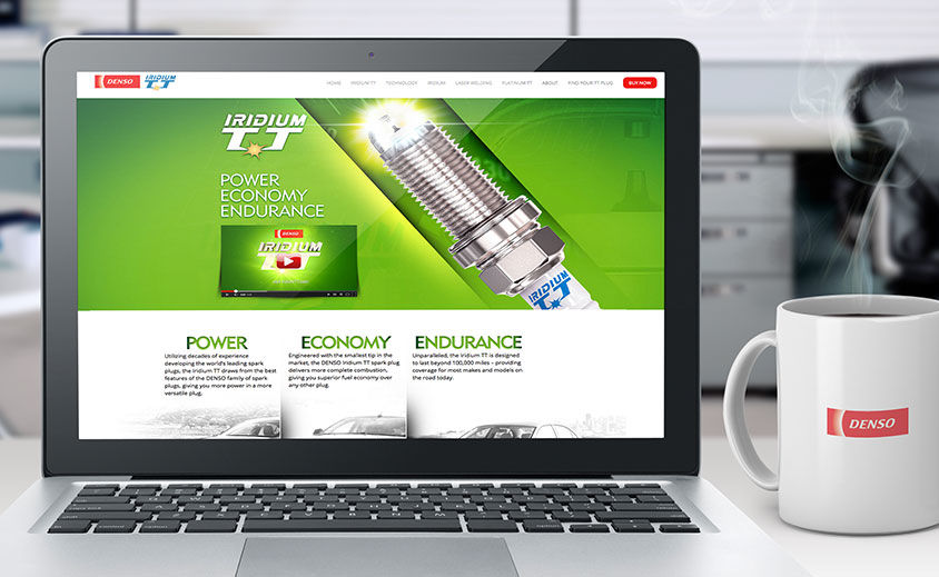 Website Design and Development: DENSO Iridium TT