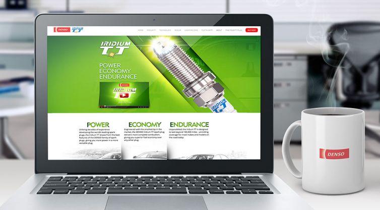 Website Design and Development: DENSO Iridium TT