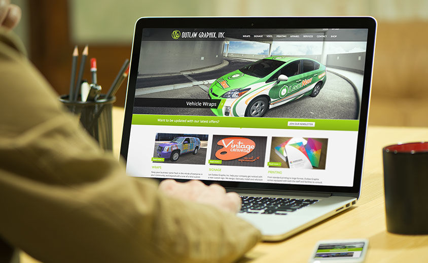 Website Design and Development: Outlaw Graphix
