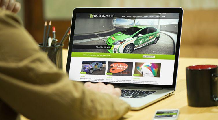 Website Design and Development: Outlaw Graphix