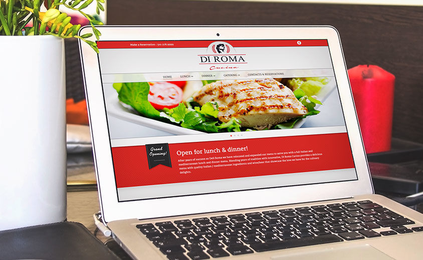 Website Design and Development: Di Roma Cucina