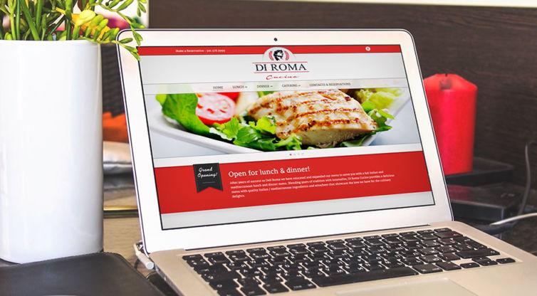Website Design and Development: Di Roma Cucina