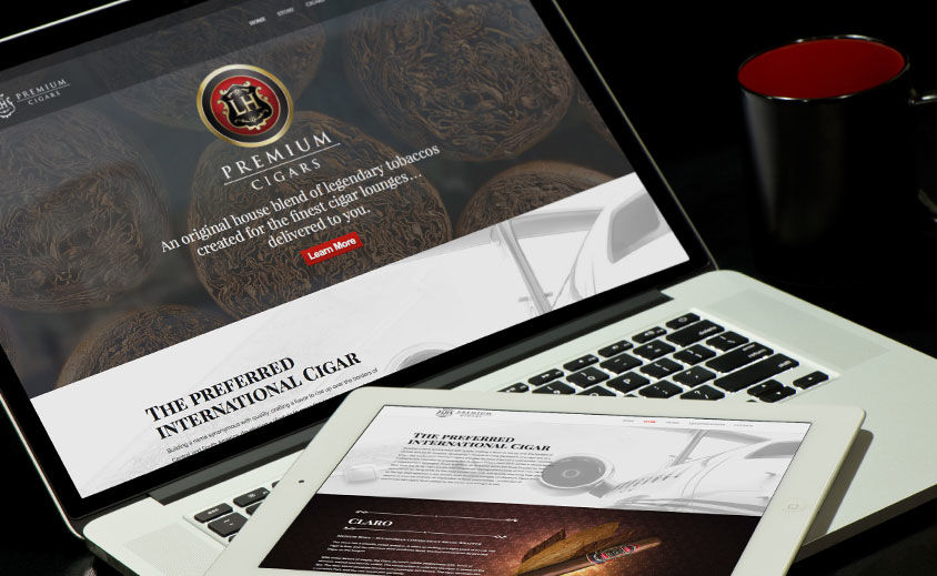 Website Design and Development: LH Cigars