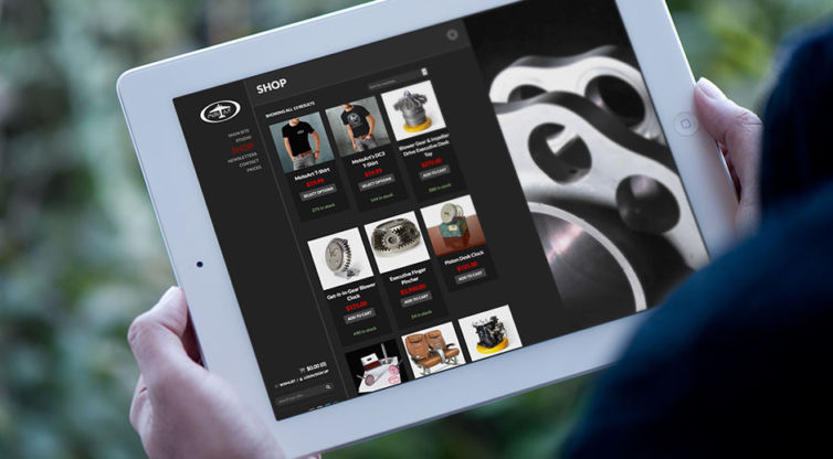 Website Design and Development: MotoArt Shop