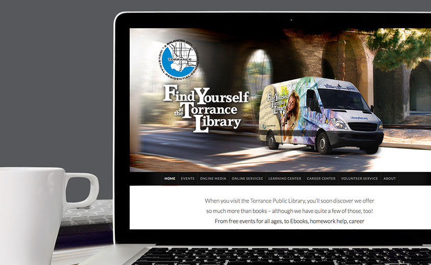 Website Design and Development: Torrance Library Van