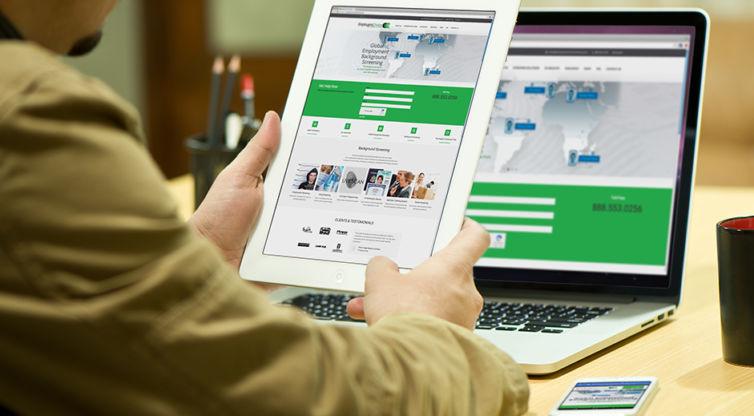 Website Design and Development: Employers Choice Screening