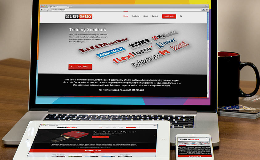 Website Design and Development: Multi Sales Inc.