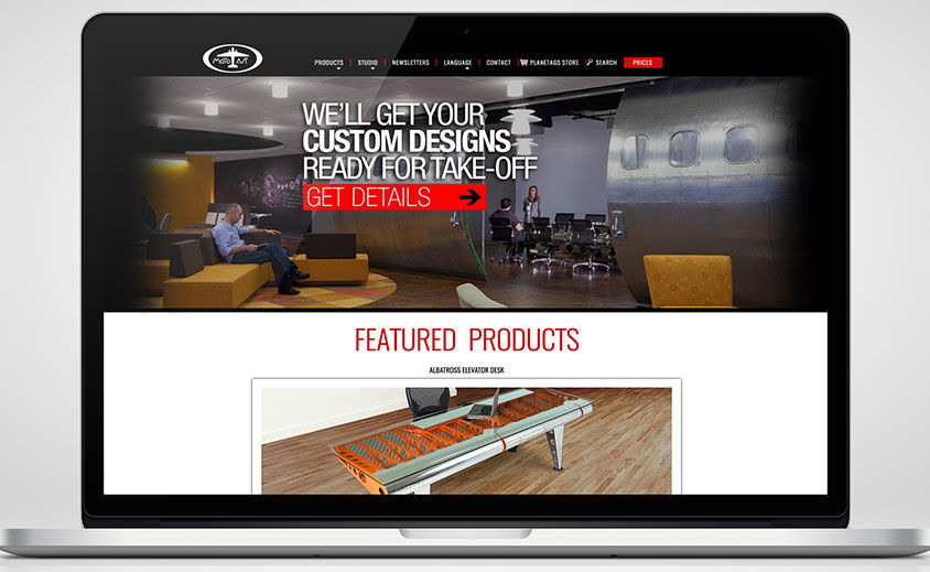 WEBSITE DESIGN AND DEVELOPMENT: MOTOART AVIATION FURNITURE