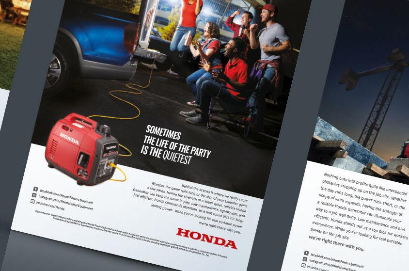PRINT ADVERTISING: Honda Power Equipment
