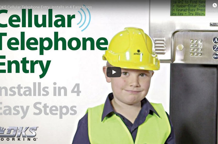 VIDEO: DKS Cellular Telephone Entry: Installs in 4 Easy Steps
