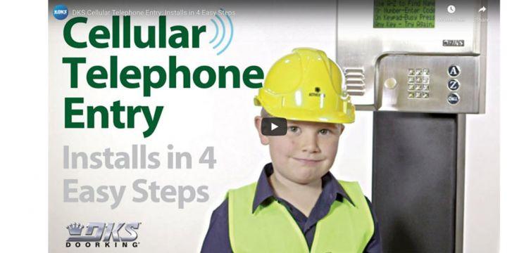 VIDEO: DKS Cellular Telephone Entry: Installs in 4 Easy Steps