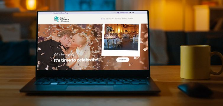 WEBSITE DESIGN AND DEVELOPMENT: Victor's Party Planning